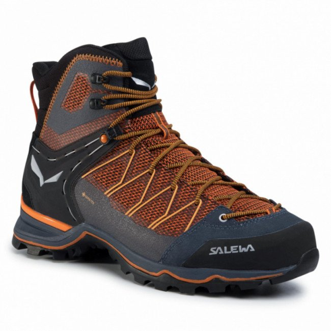Trekingová obuv SALEWA - Ms Mnt Trainer Lite Mid Gtx GORE-TEX 61359-0927 Black Out/Carrot 0927