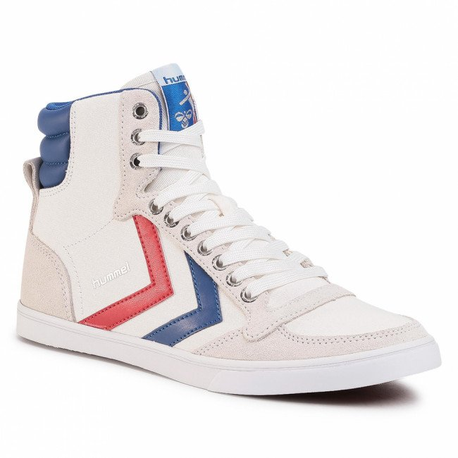 Sneakersy HUMMEL - Slimmer Stadil High 63511-9228 White/Blue/Red/Gum