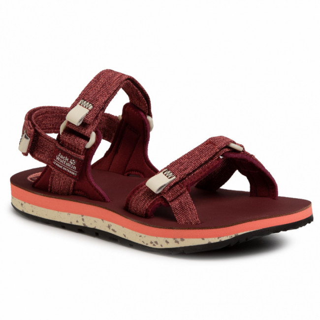 Sandále JACK WOLFSKIN - Outfresh Deluxe Sandal W 4039451 Carbernet/Champagne