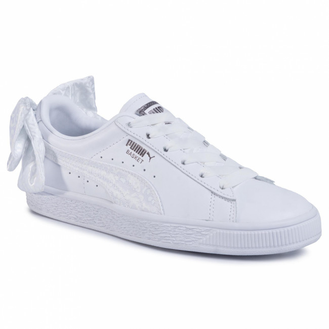 Sneakersy PUMA - Basket Bow Animal Wn's 367828 01 Puma White/Puma Aged Silver