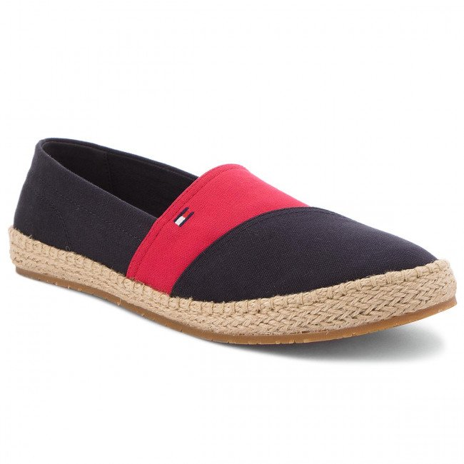 Espadrilky TOMMY HILFIGER - Colormix Espadrille FM0FM01417  Midnight 403