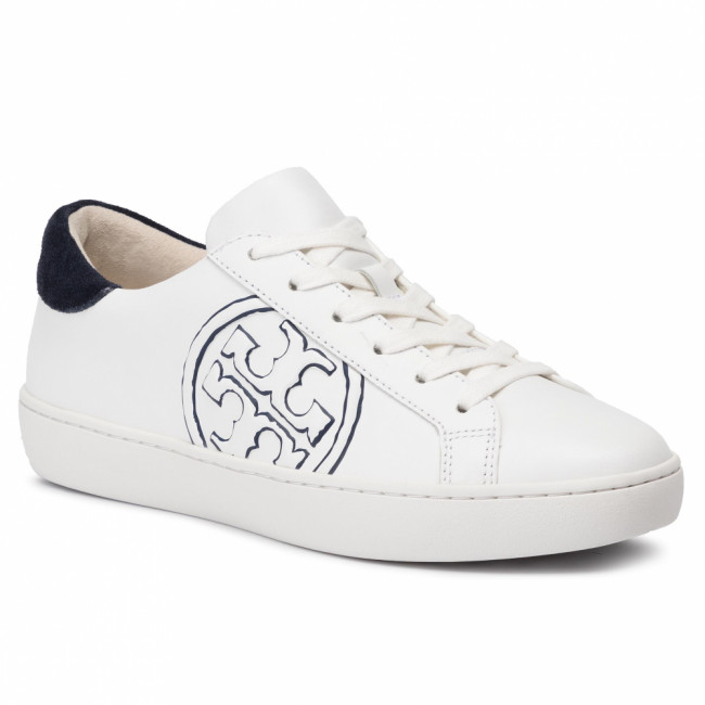 Sneakersy TORY BURCH - T-Logo Sneaker 60847 Snow White/Navy 130