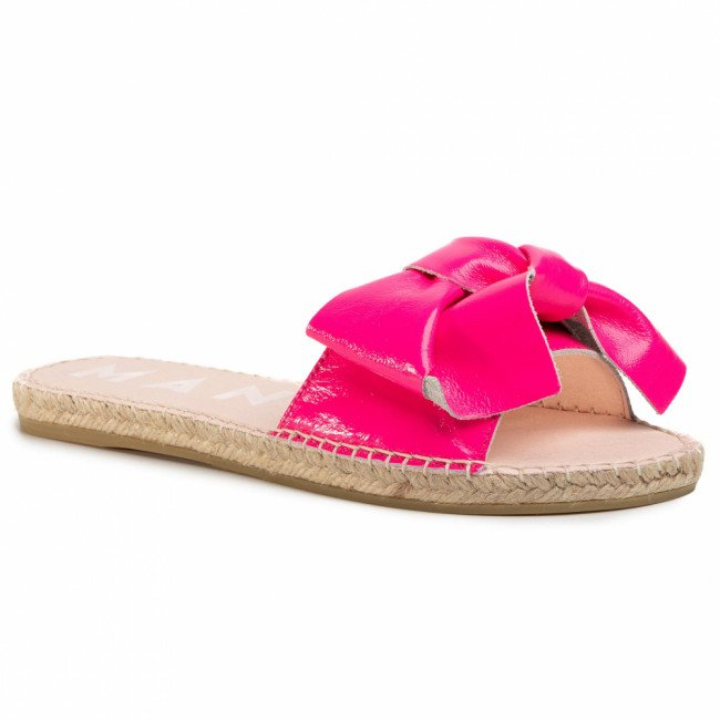 Espadrilky MANEBI - Sandals With Bow F 9.1 J0 Pink Fluo