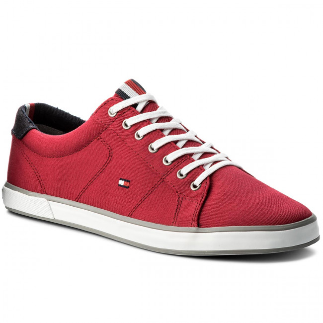 Tenisky TOMMY HILFIGER - Iconic Long Lace Sneaker FM0FM01536 Tango Red 611