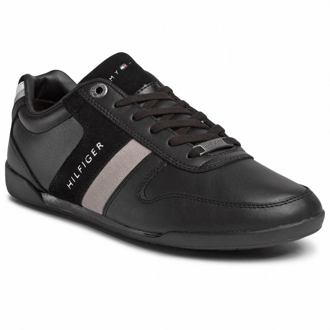 Sneakersy TOMMY HILFIGER - Premium Lo Cupsole Leather FM0FM02664 Black BDS