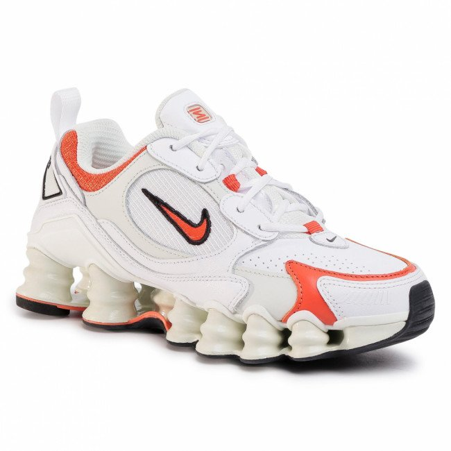 Topánky NIKE - Shox Tl Nova AT8046 101 White/Team Orange/Spruce Aura