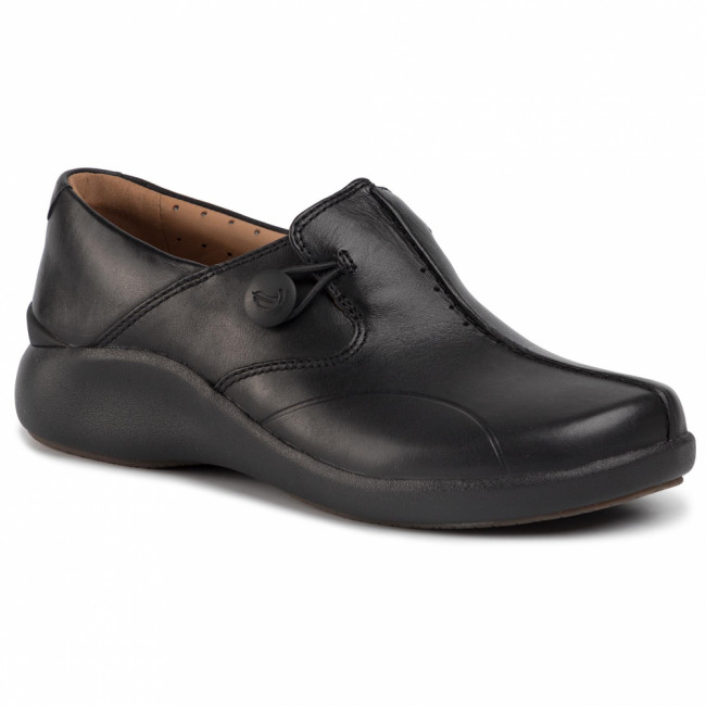 Poltopánky CLARKS - Un. Loop2 Walk 261447574 Black Leather