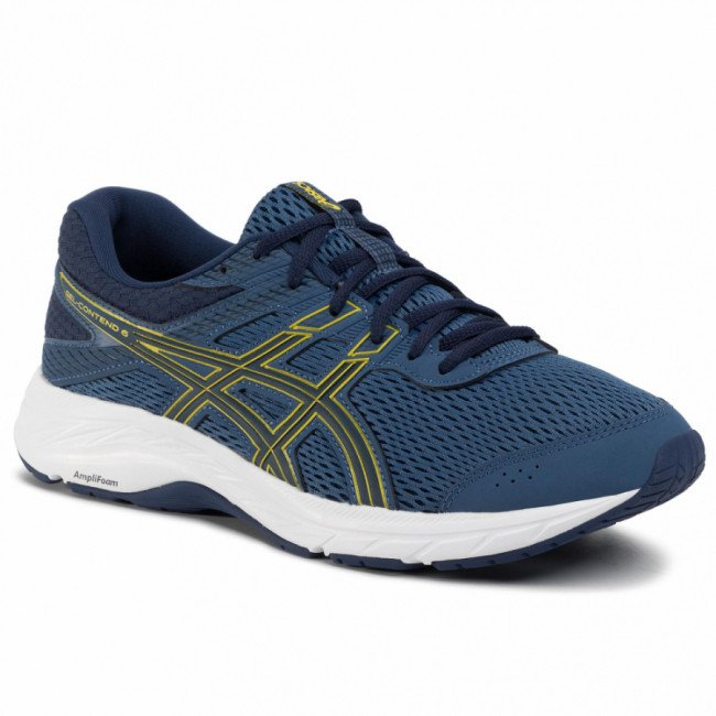 Topánky ASICS - Gel-Contend 6 1011A667 Grand Shark/Vibrant Yellow 400