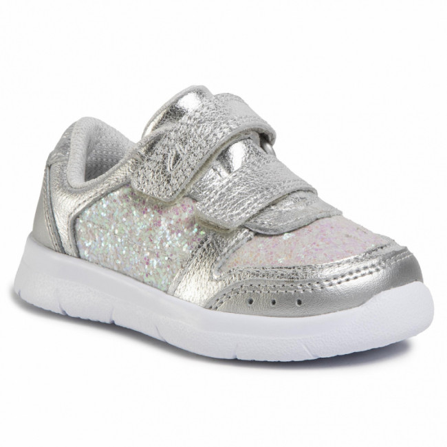 Sneakersy CLARKS - Ath Sonar T 261496486  Silver Leather