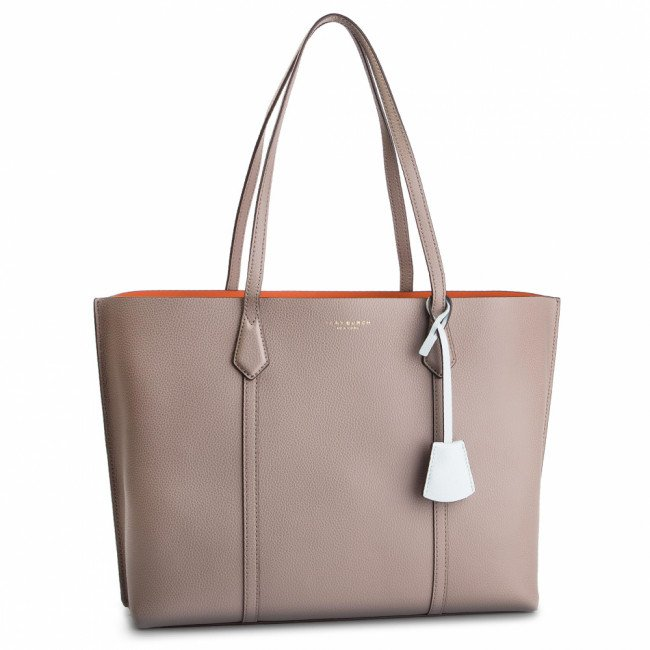 Kabelka TORY BURCH - Perry Triple-Compartment Tote 53245 Gray Heron 082