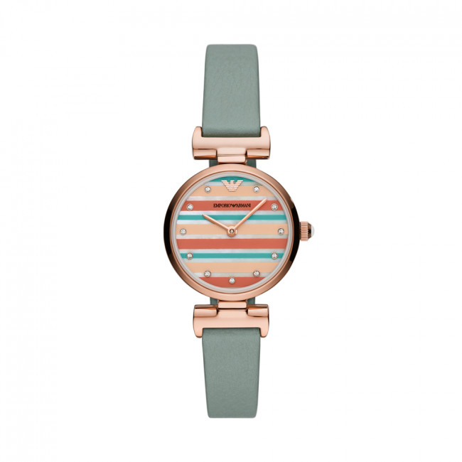 Hodinky EMPORIO ARMANI - Gianni T-Bar AR11292 Green/Rose Gold