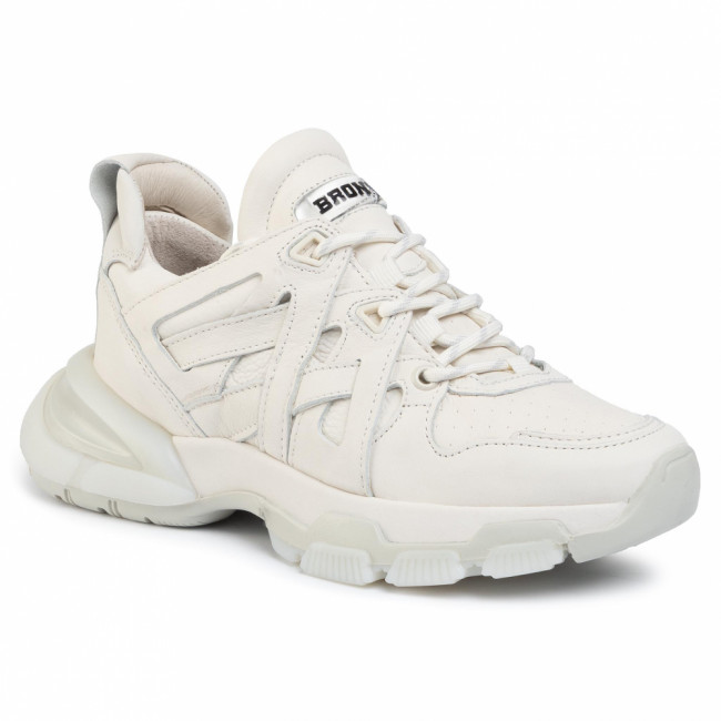Sneakersy BRONX - 66320-AA Off White 05
