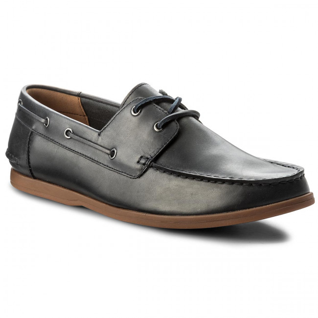 Mokasíny CLARKS - Morven Sail 261324737 Navy Leather