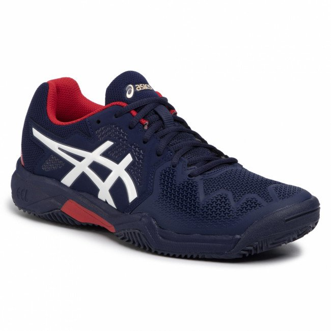 Topánky ASICS - Gel-Resolution 8 Clay Gs 1044A019 Peacoat/Classic Red 400