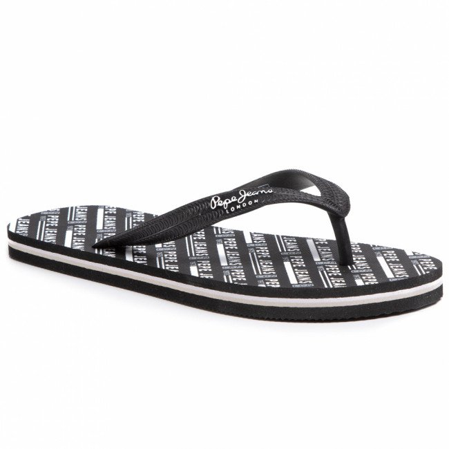 Žabky PEPE JEANS - Swimming All Over PMS70090 Black 999