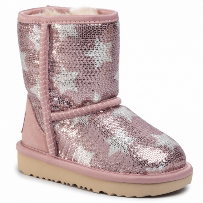 Topánky UGG - T Classic Short II Sequin Star 1107988T Pcry
