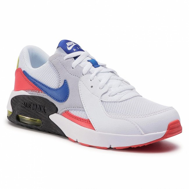 Topánky NIKE - Air Max Excee (Gs) CD6894 101 White/Hyper Blue/Bright Cactus