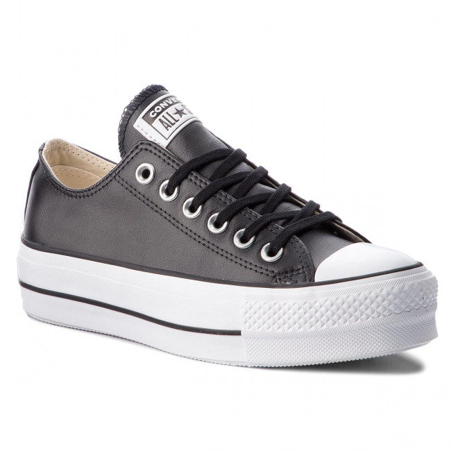 Tramky CONVERSE - Ctas Lift Clean Ox 561681C Black/Black/White