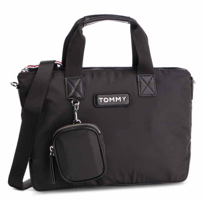 Kabelka TOMMY HILFIGER - Varisity Nylon Small Tote AW0AW06123  002