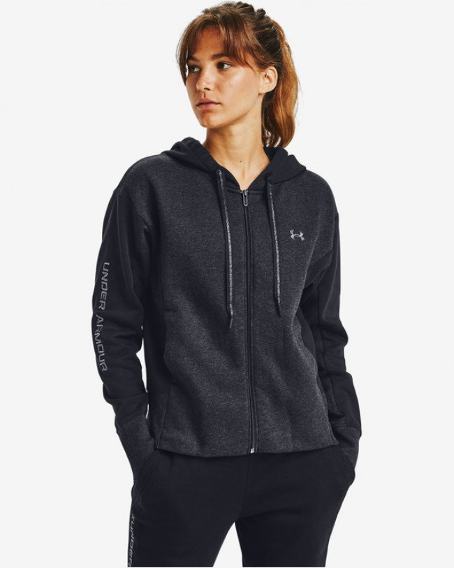 Under Armour Rival Fleece Embroidered Full Zip Mikina Čierna