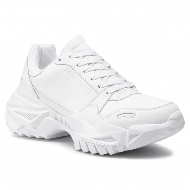 Sneakersy EMPORIO ARMANI - X4X324 XF499 00152 Optical White