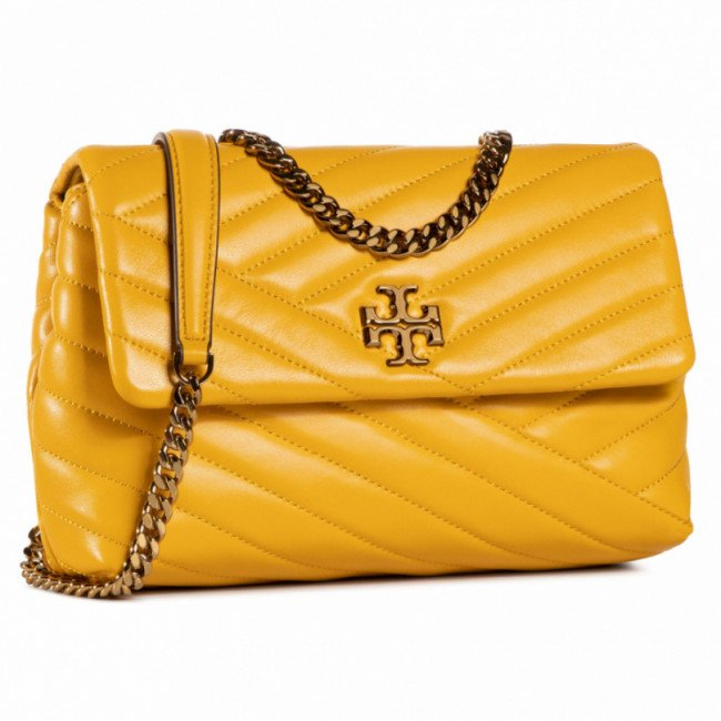 Kabelka TORY BURCH - Kira Chevron Small 64963 Goldfinch 703