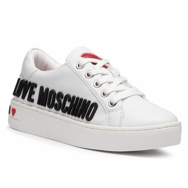 Sneakersy LOVE MOSCHINO - JA15063G1BIA0100 Bianco