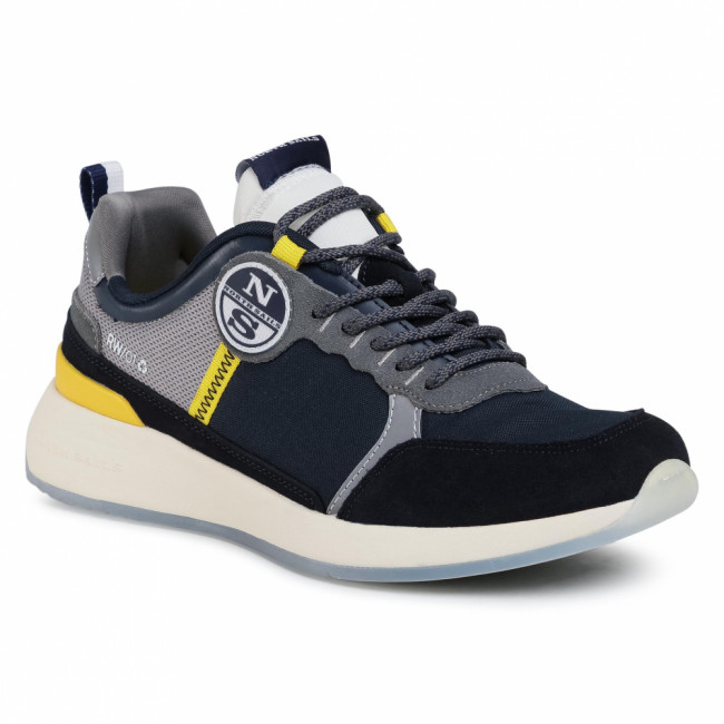 Sneakersy NORTH SAILS - RW/01 A-Vail 054 Navy/Yellow