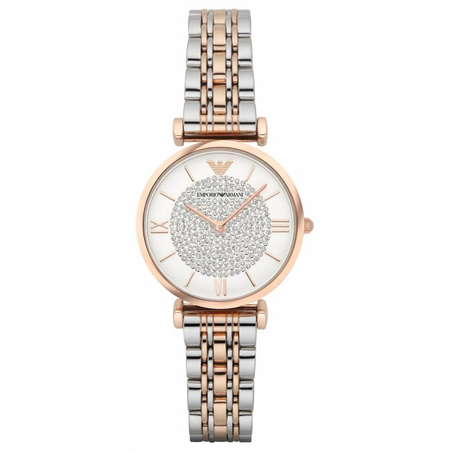 Hodinky EMPORIO ARMANI - Gianni T-Bar AR1926  2T Silver/Rose/Rose Gold