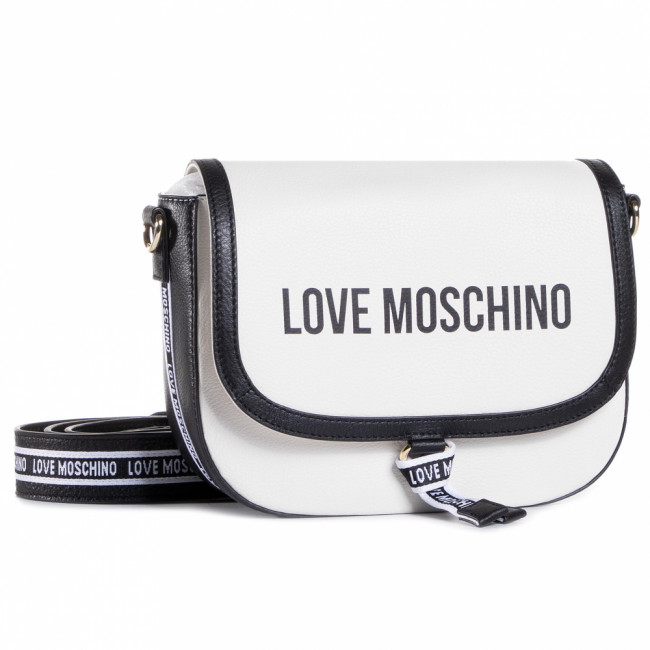 Kabelka LOVE MOSCHINO - JC4108PP1BLR110A  Natural Grain Mix Bia/Nero