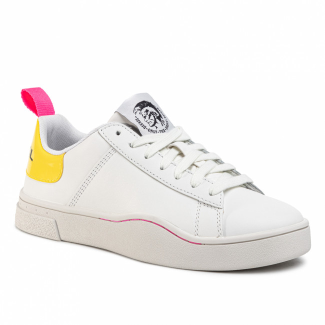 Sneakersy DIESEL - S-Clever Low Lace Up Y02042 P0299 H6971  White/P 803 C