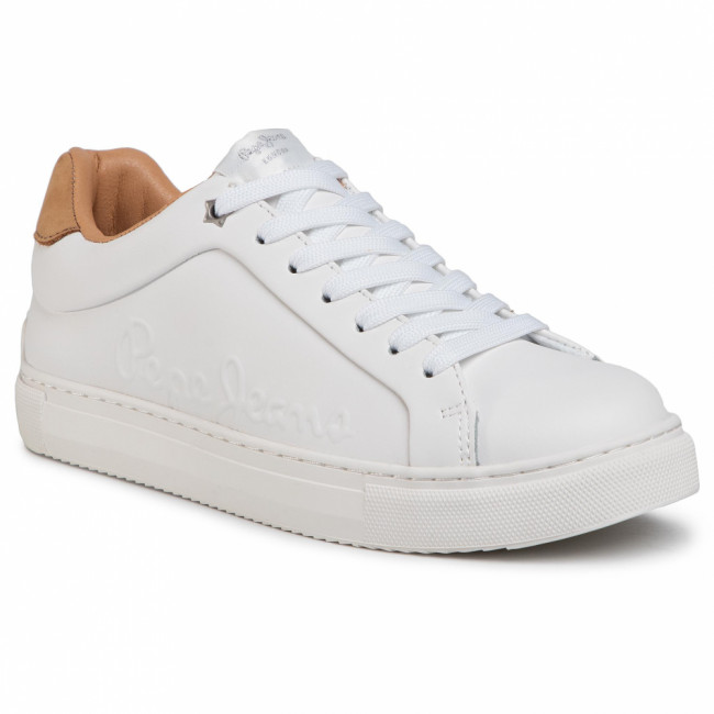 Sneakersy PEPE JEANS - Adams Logo 20 PLS31049 White 800