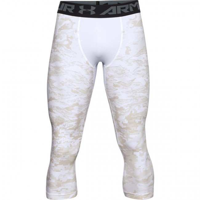 Legíny Under Armour UA HG 3/4 Print Leggings-WHT