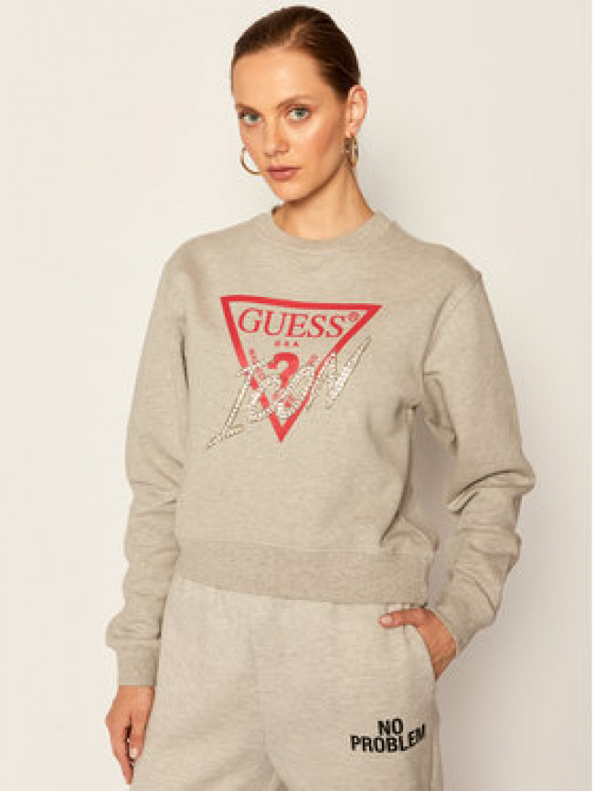 Guess Mikina Icon W0YQ47 K68I0 Sivá Regular Fit