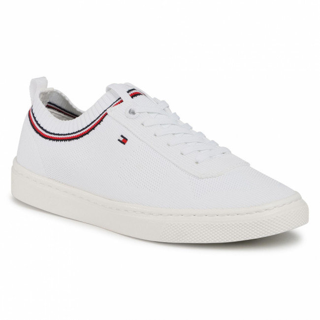 Tenisky TOMMY HILFIGER - Knitted Tommy Hilfiger Sneaker FW0FW05005 White YBR