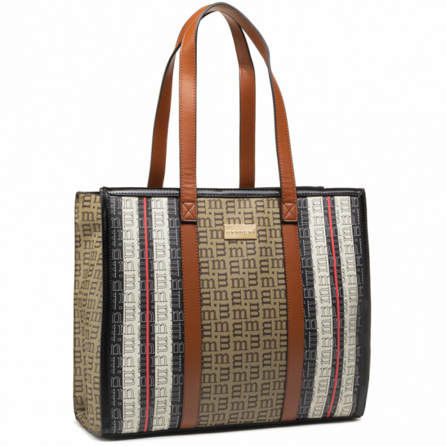 Kabelka MONNARI - BAG7210-M17 Beige With Blk With Brn With Patt