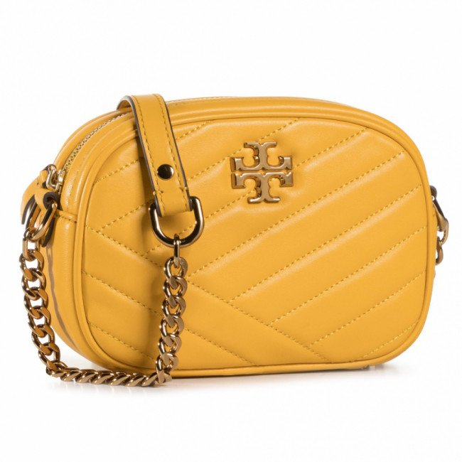 Kabelka TORY BURCH - Kira Chevron Camera Bag 60227 Goldfinch 703