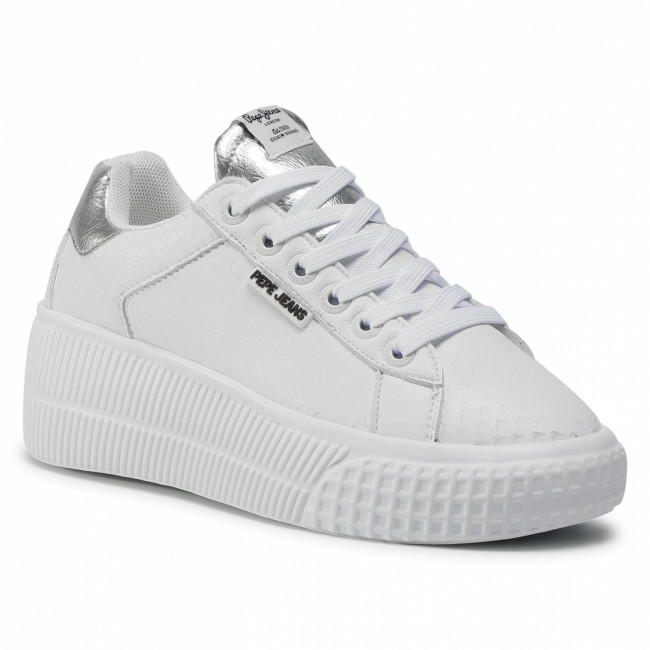 Sneakersy PEPE JEANS - Neal Snake PLS31057 White 800