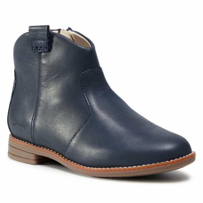Členková obuv CLARKS - Drew North K 261522726 Navy Leather