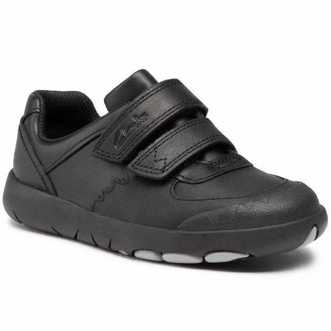 Sneakersy CLARKS - Rex Pace K 261470447 Black Leather