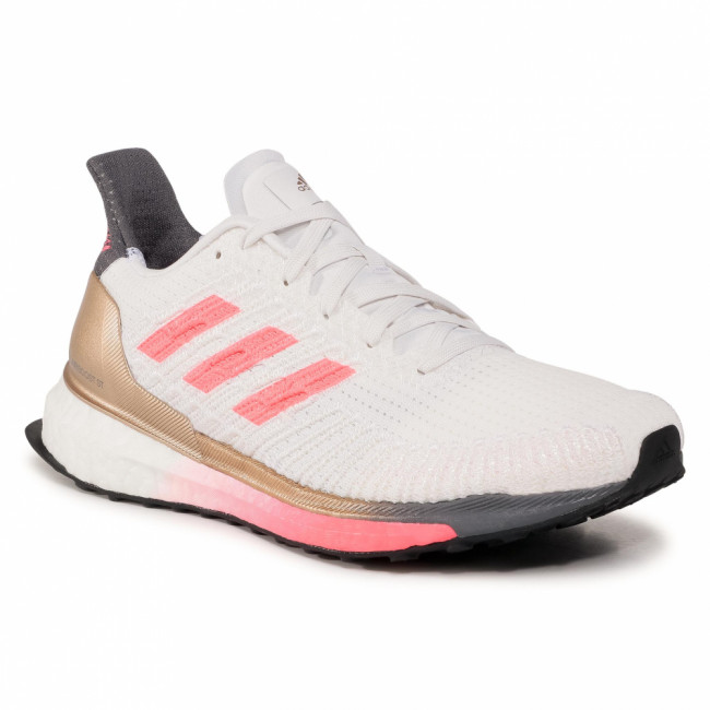 Topánky adidas - Solar Boost St 19 W FW7805 Crystal White/Signal Pink/Copper Metallic