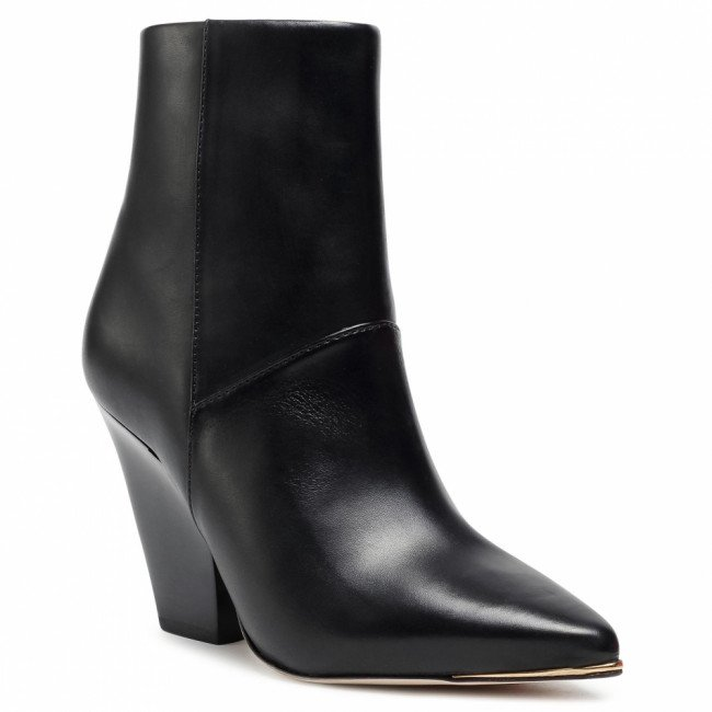 Členkové čižmy TORY BURCH - Lila 90Mm Zip Up Ankle Bootie 76578 Perfect Black/Perfect Black/Perfect Black