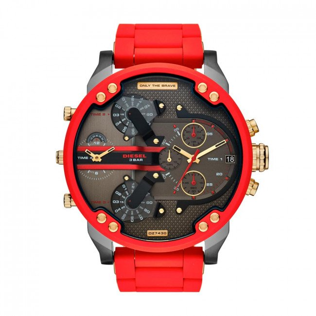 Hodinky DIESEL - Mr. Daddy 2.0 Chronograph DZ7430 Red/Black