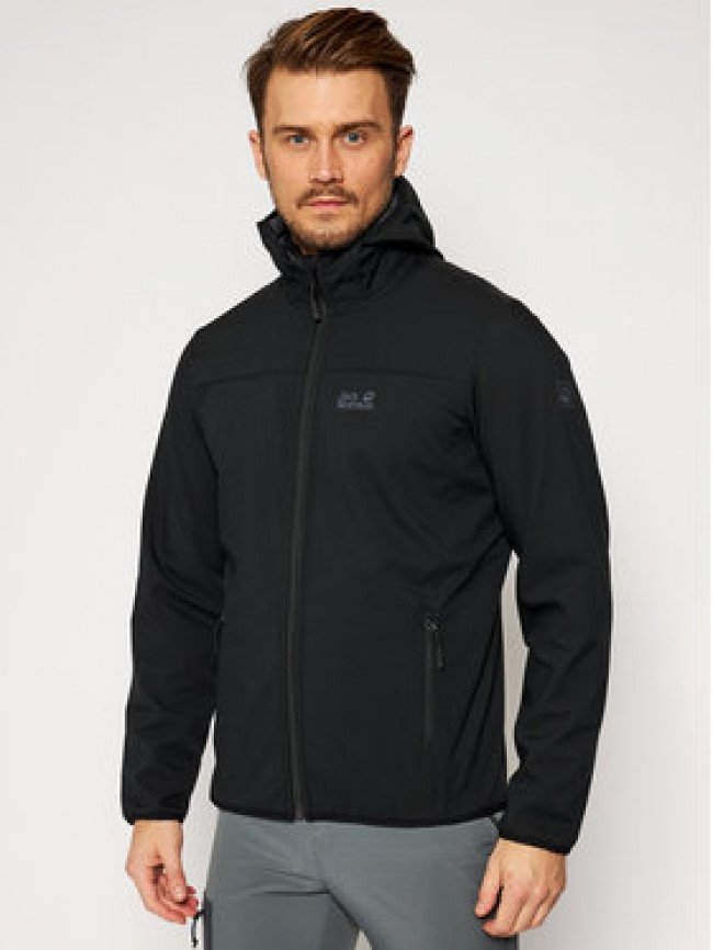Jack Wolfskin Softshellová bunda Northern Point 1304001 Čierna Regular Fit