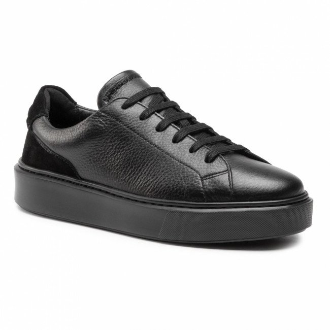 Sneakersy CLARKS - Hero Lite Lace 261548787  Black Leather