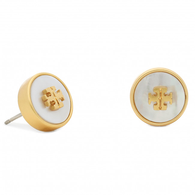 Náušnice TORY BURCH - Kira Semiprecious Circle 74073 Rolled Brass/Mother Of Pearl 100