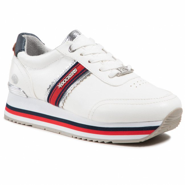Sneakersy DOCKERS BY GERLI - 46DH202-618591 White/Silver