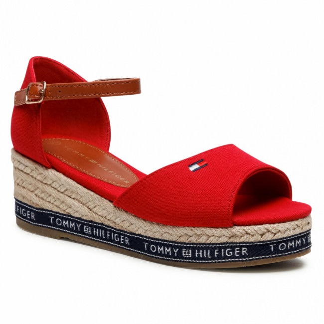 Espadrilky TOMMY HILFIGER - Rope Wedge Sandal T3A2-31056-0048 M Red 300