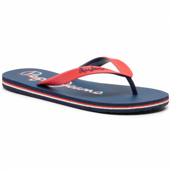 Žabky PEPE JEANS - Hawi Duncan PMS70099 Red 255