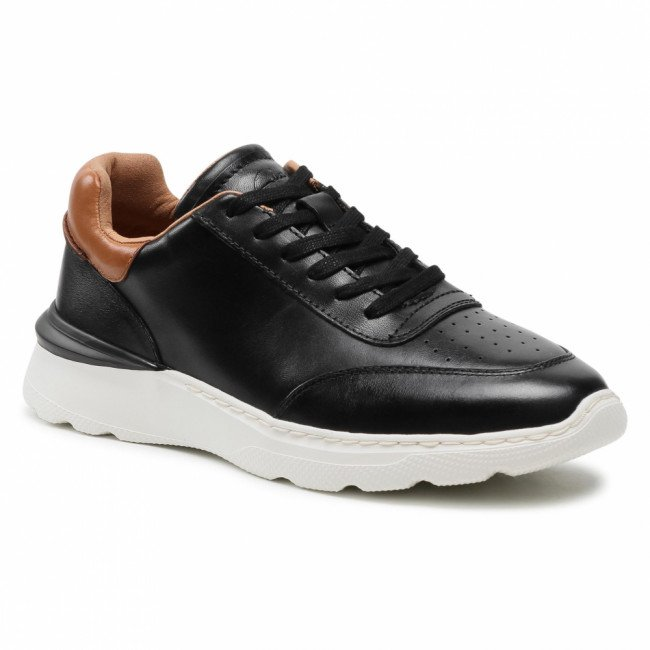 Sneakersy CLARKS - Sprint Lite Lace 261583417 Black Leather